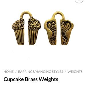 Cupcake Brass Ear Weights- Oracle Jewelry- 7/16